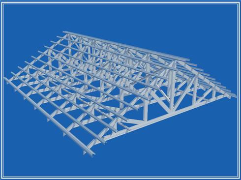 Thiết kế mái nhà lợp ngói với Hệ giàn thép ma GPTRUSS